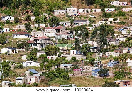Crowded Low Cost Township Housing  Settlement In Marianne Hill
