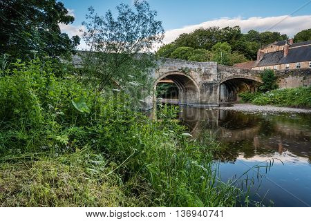 Felton Old Bridge, over the River Coquet which is now closed to traffic.  Felton is a small village in Northumberland