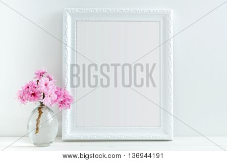 Pink Blossom styled stock photography with white frame for your own business message promotion headline or design great for blogging and social media, or could be used to announce an event, celebration, party or wedding