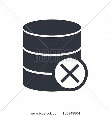 Database Cancel Icon In Vector Format. Premium Quality Database Cancel Symbol. Web Graphic Database