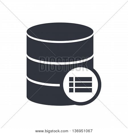 Database Detail Icon In Vector Format. Premium Quality Database Detail Symbol. Web Graphic Database