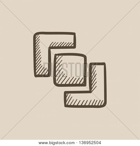 Divide vector sketch icon isolated on background. Hand drawn Divide icon. Divide sketch icon for infographic, website or app.