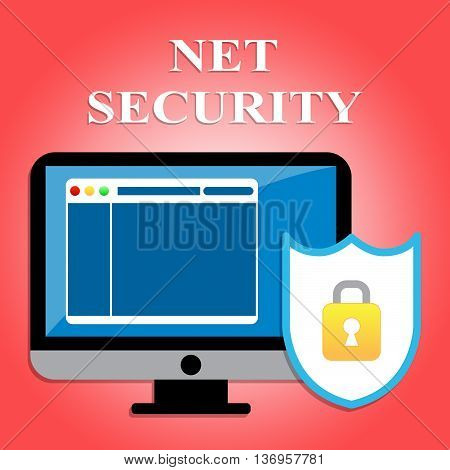 Net Security Shows Protected Web Site And Communication