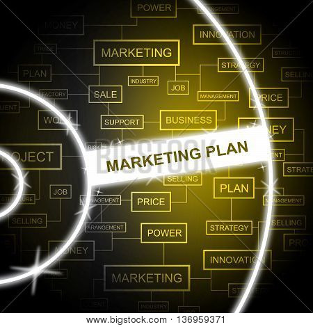 Marketing Plan Indicates Email Lists And Agenda