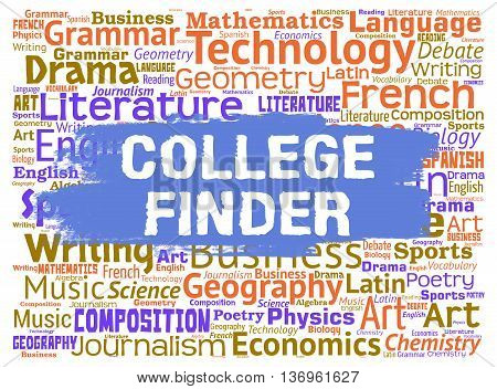 College Finder Indicates Search For And Choose School