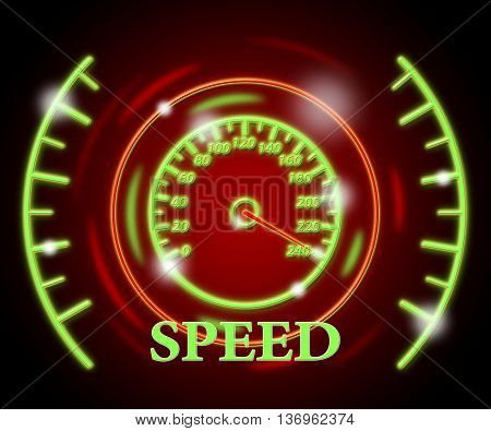 Speed Gauge Shows Odometer Rush And Quicker