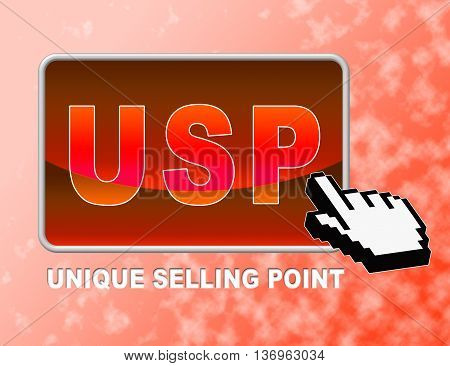 Usp Button Means Unique Selling Point And Benefits