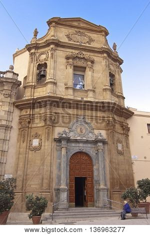 Addolorata church facade in Marsala, Sicily