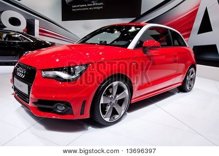 Moscow, Russia - August 25: Red  Audi A1 At Moscow International Exhibition Interauto On August 25,