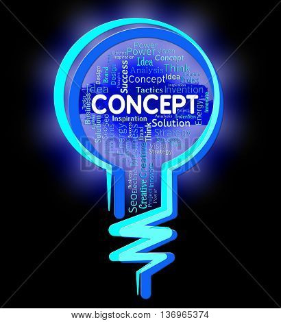 Concept Lightbulb Means Thinking Hypothesis And Thoughts
