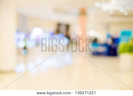 super store blur background with bokeh light