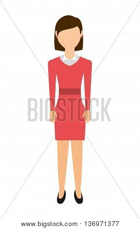 casual young woman isolated icon design, vector illustration  graphic