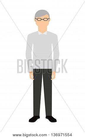 cute grandfather isolated icon design, vector illustration  graphic