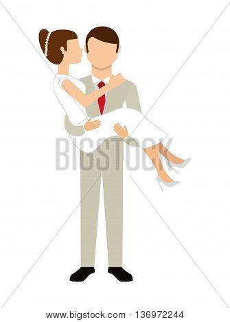 couple wedding  isolated icon design, vector illustration  graphic