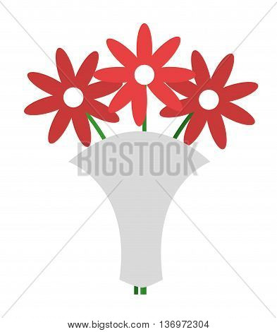 wedding bouquet isolated icon design, vector illustration  graphic