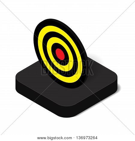 3D isometric target board icon for business success and sport concept vector illustration design isolated on white background