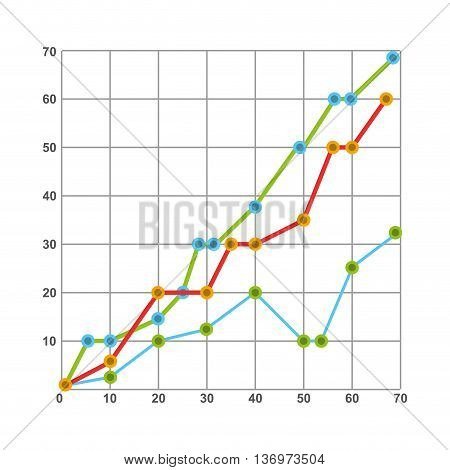 statistics graph  isolated icon design, vector illustration  graphic