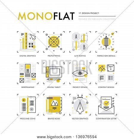 Design Project Monoflat Icons