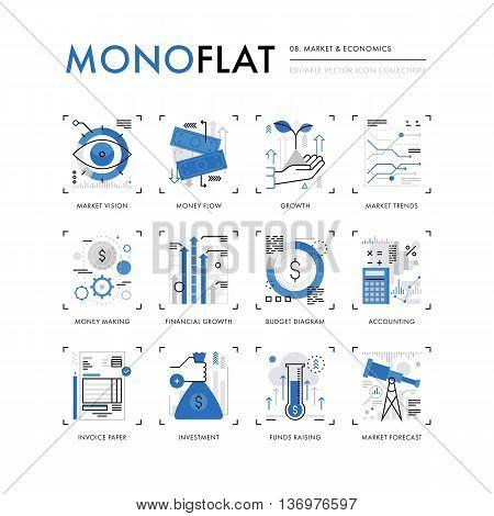 Market Economics Monoflat Icons