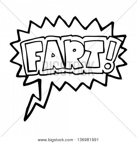 freehand drawn speech bubble cartoon fart symbol