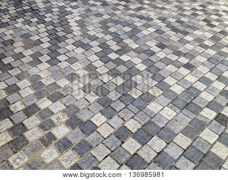 Sidewalk Or Pedestal In Stone Style Floor