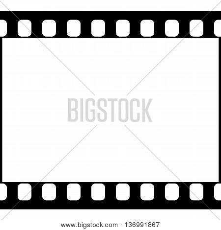 Vector 35 mm Film Strip Illustration on White Background. Abstract Film Strip design template. Film Strip Seamless Pattern.