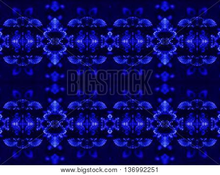 Abstract geometric seamless background. Ornate diamond and octagon pattern turquoise with dark blue wiggly outlines and purple elements.