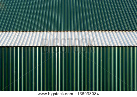 Green White Corrugated Metal Abstract