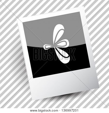 unique abstract forms. Photoframe. Vector icon.