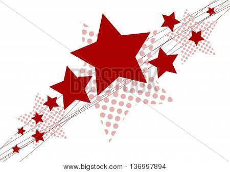 Red Christmas star - isolated on white background