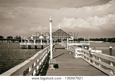 Bradenton Beach Historic Pier on Anna Maria Island Florida