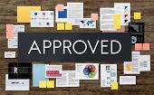 Approved Approval Guaranteed Certified Authorized Concept poster