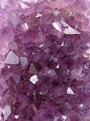 photo of natural violet amethyst crystal structure poster