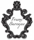 Baroque Rococo Mirror frame set. Vector French Luxury rich carved ornaments and Wall Frames. Victorian wealthy Style frame poster
