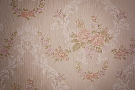 Vintage wallpaper close up. background, texture .