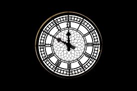 medieval clock isolated. big ben clock .