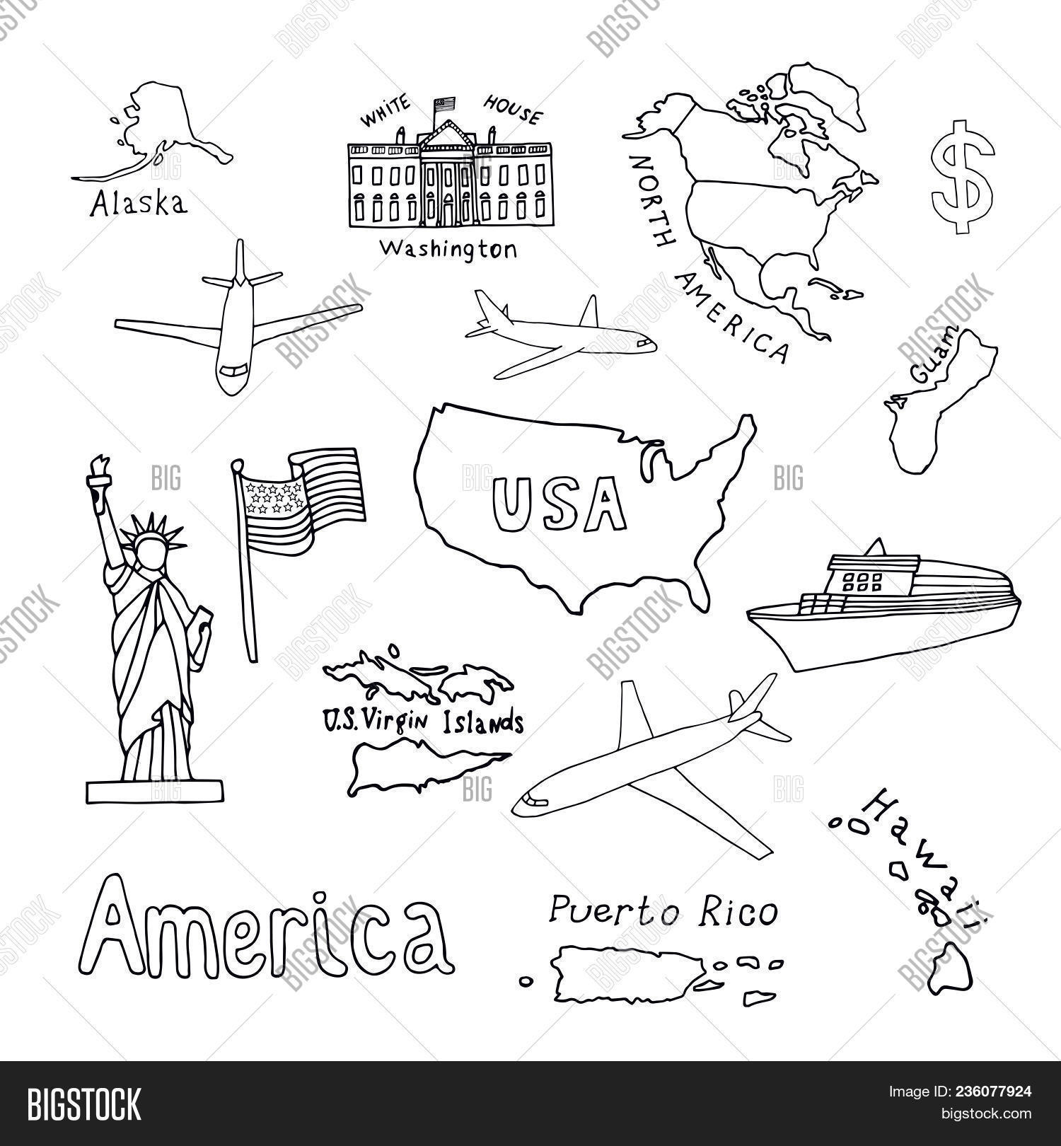 map united states vector photo free trial bigstock Us Map with Territories map of the united states of america and its territories north america alaska
