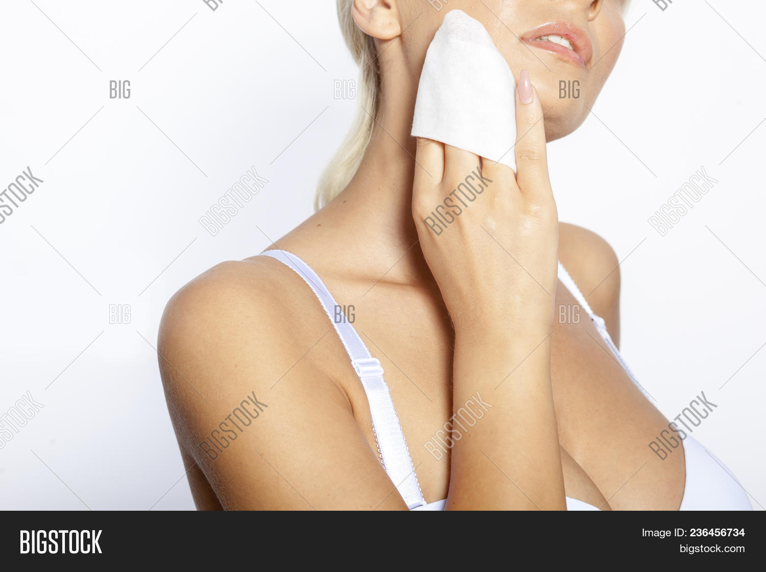 Woman Clean Face Wet Image   Photo (Free Trial)  954c78cdd