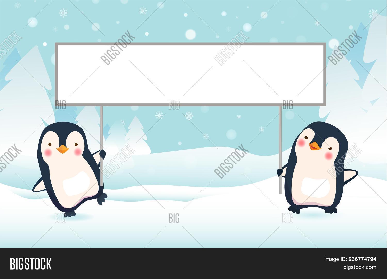 Penguin Cartoon Image Photo Free Trial Bigstock