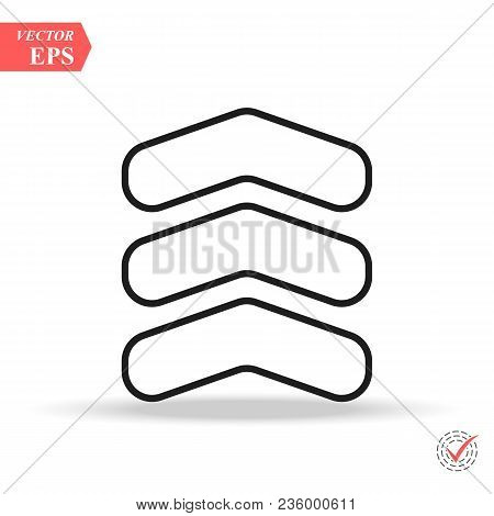 Chevron Icon Trendy Vector Photo Free Trial Bigstock