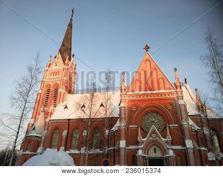 Lulea Church In The North Of Sweden In Winter