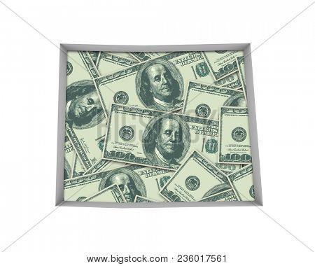 Colorado CO Money Map Cash Economy Dollars 3d Illustration