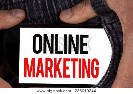 Text Sign Showing Online Marketing. Conceptual Photo Marketing Digital Advertising Social Media E-co