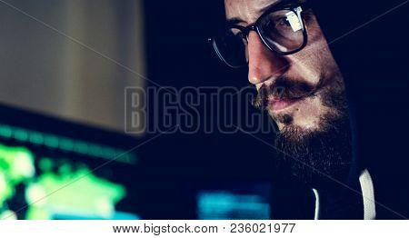 Diverse computer hacking shoot