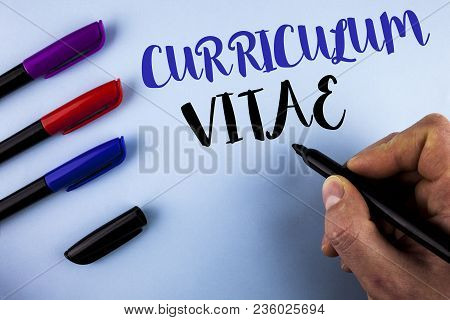 Conceptual Hand Writing Showing Curriculum Vitae. Business Photo Text Resume Preparation Design Temp