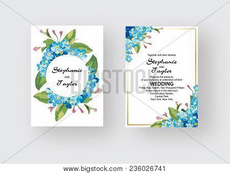 Wedding Invitation, Floral Invite Thank You, Rsvp Modern Card Design: Green Tropical Palm Leaf Green