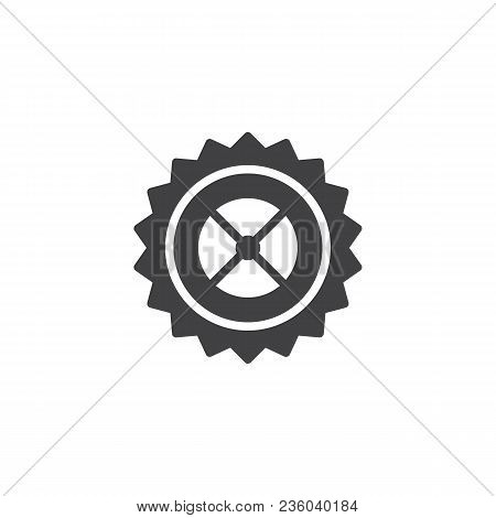 Gear Vector Icon. Filled Flat Sign For Mobile Concept And Web Design. Cogwheel Settings Simple Solid