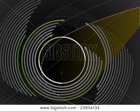Modern graphic circular design background
