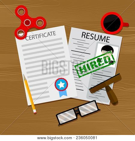 Hiring Qualified Specialist With Graduate. Hr Degree And Growth Professional, Graduate Vector Illust