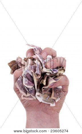 Handful Of Chinese Paper Money